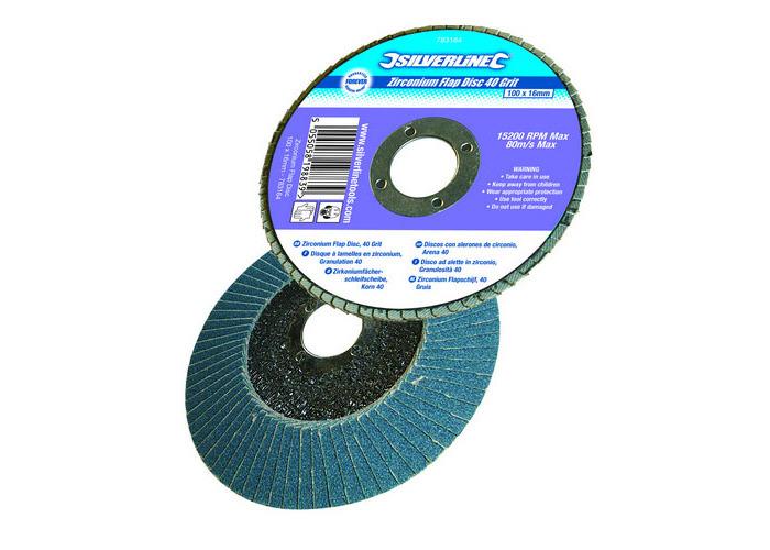 Silverline 282588 Zirconium Flap Disc 125mm 40 Grit - 1
