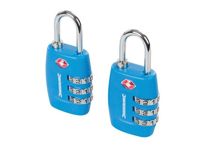 Silverline 709502 TSA Combination Luggage Padlocks 2pk 3-Digit - 1