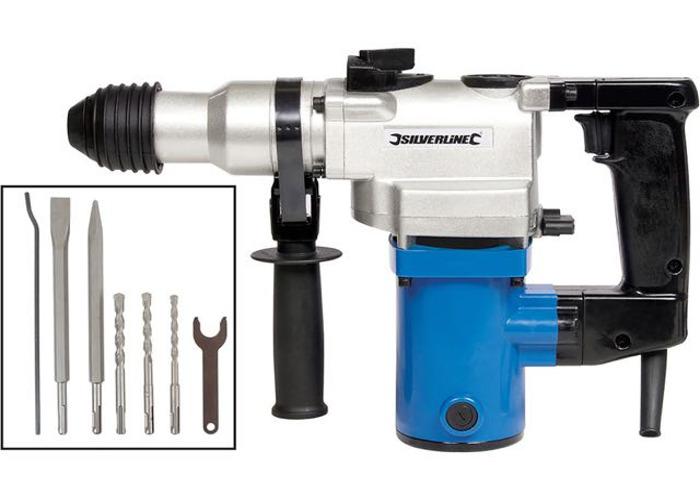 Silverline 850W 5kg SDS Hammer Drill 230V - 1