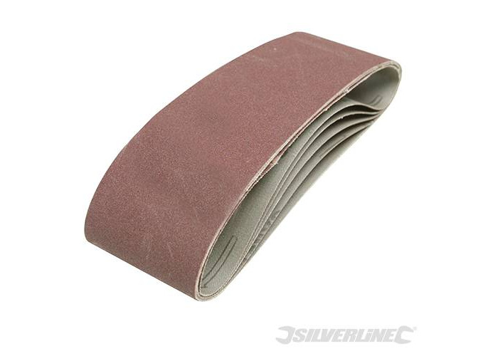 Silverline Sanding Belts 75 x 533mm 5pce