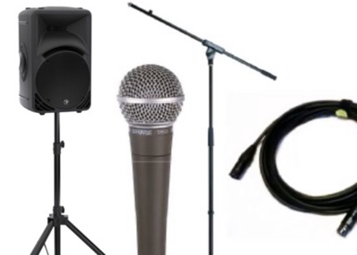 Single Speaker PA (inc. mic, mic stand & speaker stand) - 1