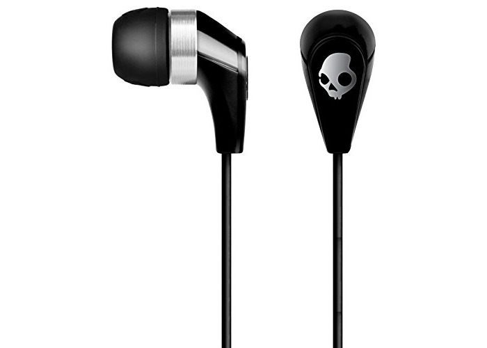 SKULLCANDY 50/50 Ear Buds with Mic3 for Phones - Retail Packaging - Black - 1