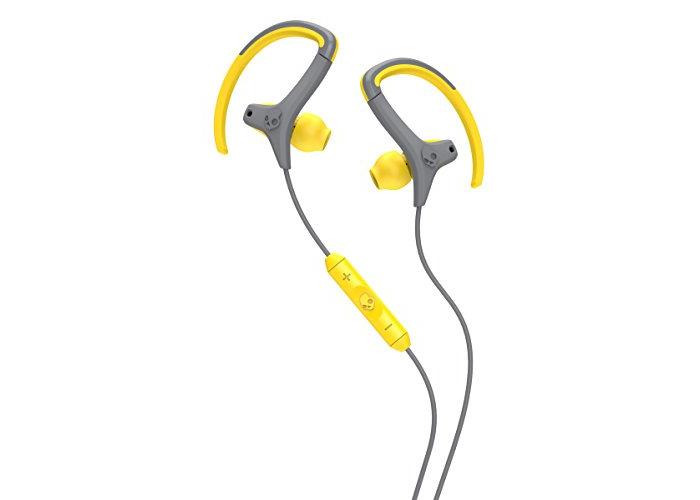 Skullcandy Chops In-Ear Sweat Resistant Sports Earbud, Yellow/Gray - 2