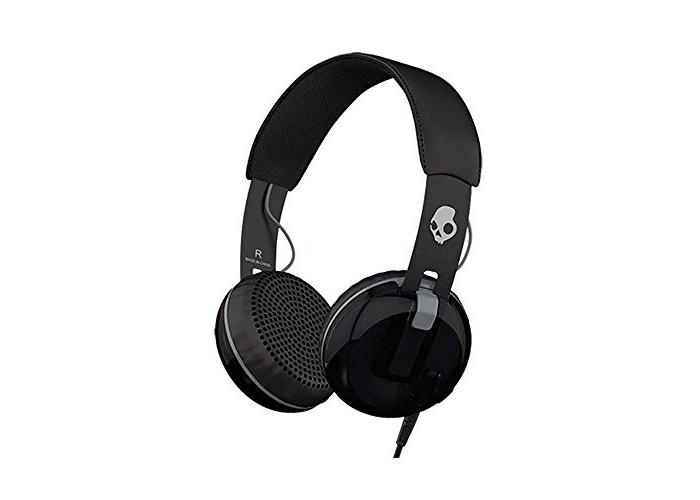 Skullcandy Grind Wired On-Ear Headphone with Taptech Playback Remote - Black/Grey - 1