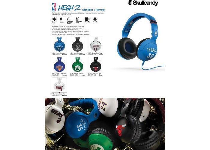 Skullcandy Hesh 2.0 Over-Ear Wired Headphones with In-Line Microphone - Derrick Rose - 2
