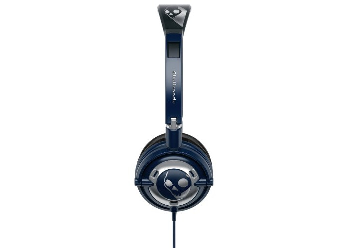 Skullcandy Lowrider On-Ear Headphones with Mic - Navy/Chrome - 2