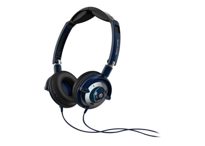 Skullcandy Lowrider On-Ear Headphones with Mic - Navy/Chrome - 1