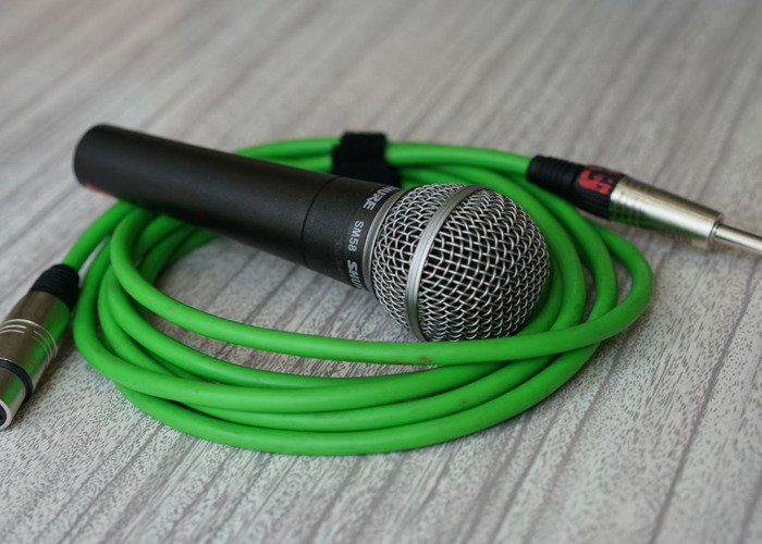Sm58 Microphone mic and mono jack to XLR cable lead - 1