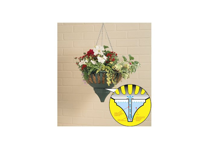 SMALL 33CM AQUA LOCK HANGING BASKET - BLACK - 1