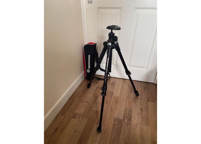 Small Manfrotto Tripod for Photo & Video - Video Fluid Head - 2