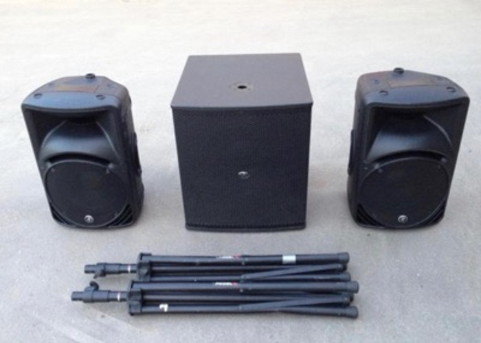 Small PA System with subwoofer - 1