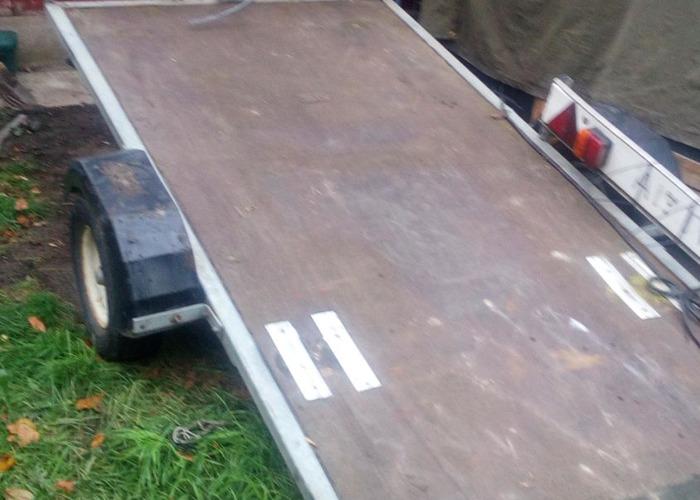 Small Tilt Load Flat Bed Trailer - 1
