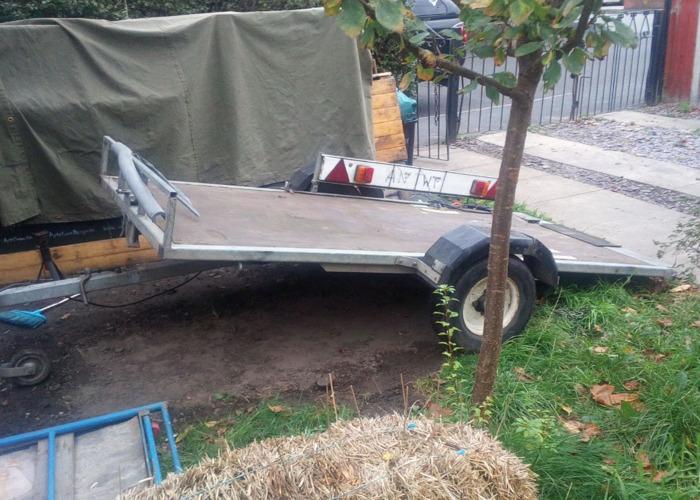 Small Tilt Load Flat Bed Trailer - 2