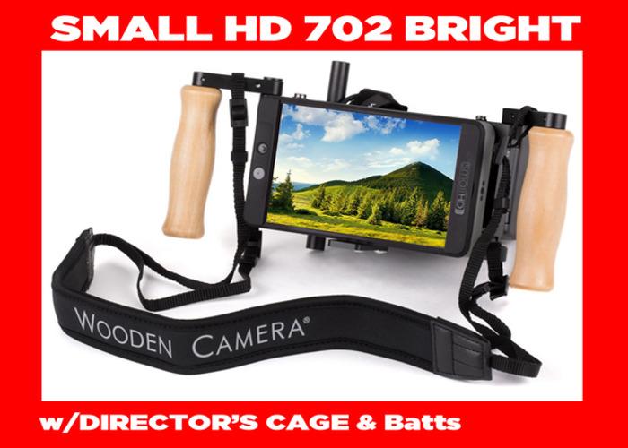 SmallHD 702 Bright Monitor/Director's Cage Wooden Camera v2 - 2