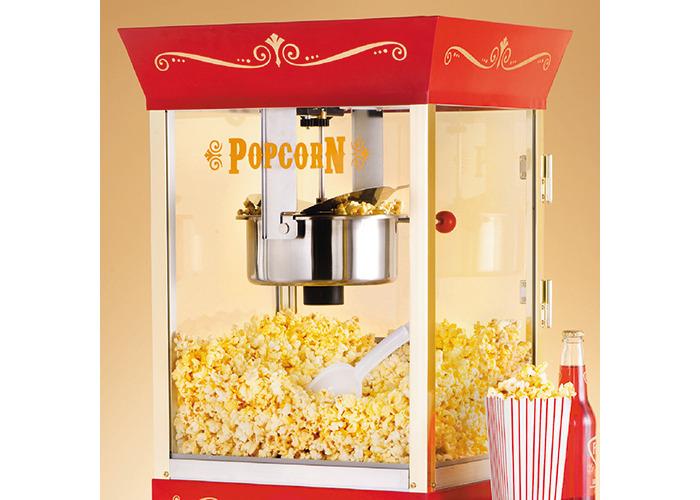 """SMART Nostalgia 59"""" Popcorn Vintage Concession Cart, 8oz Kettle - 2"""