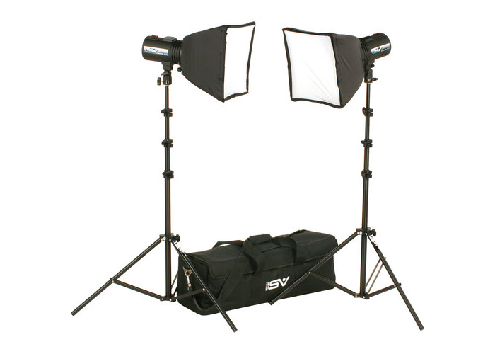 Smith-Victor FL525K 2-FlashLite 240Ws Basic Studio Kit - 1