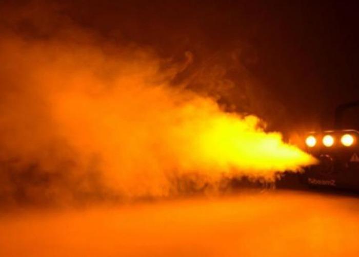 Smoke Machine - 700W Beamz- Amber LED Lights - 1