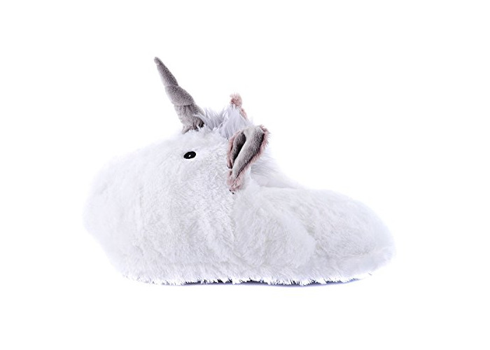 Soft Plush Unicorn Double Slipper Feet Warmer Foot Cosy - 1