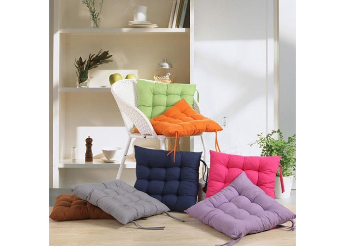Soft Square Cotton Seat Cushion Home Sofa Office Chair Pillow - 1