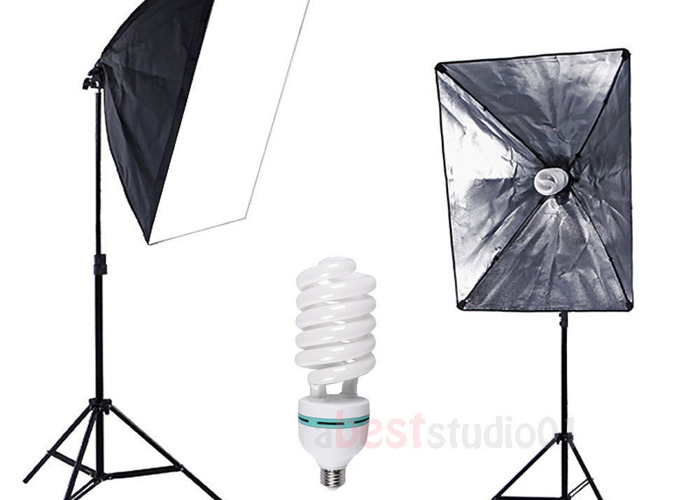 Softbox and Light Stand Full Kit (Continuous Light) - 2