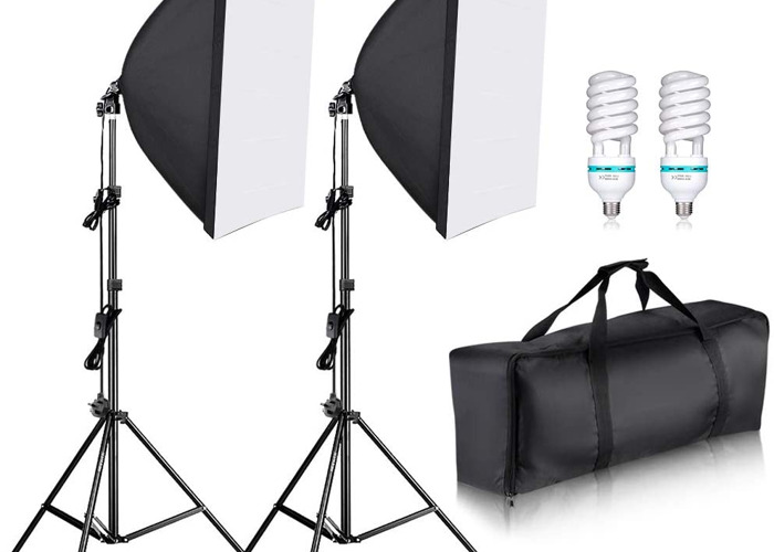 Softbox lights (set of 2 /w light stands) - 1
