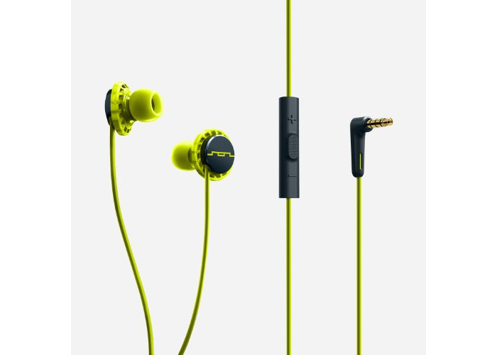 SOL REPUBLIC RELAYS 3 Button In Ear Headphones - Lemon Lime - 2