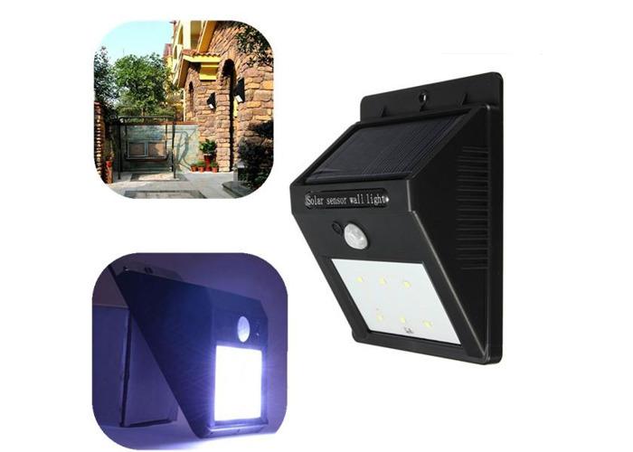 Solar Power 6 LED PIR Motion Sensor Light Waterproof Outdoor Wall Lamp - 1