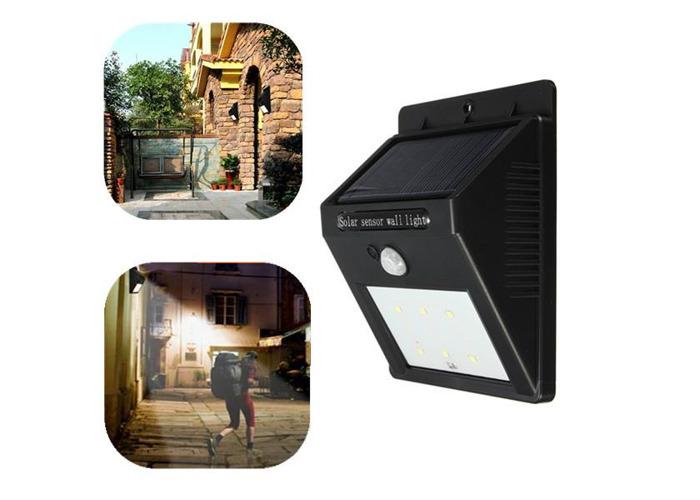 Solar Power 6 LED PIR Motion Sensor Light Waterproof Outdoor Wall Lamp - 2