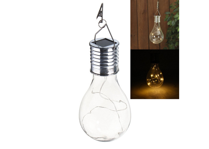 Solar Powered Warm White Waterproof Outdoor Garden Fairy Lighting Bulb Camping Hanging Lamp - 2