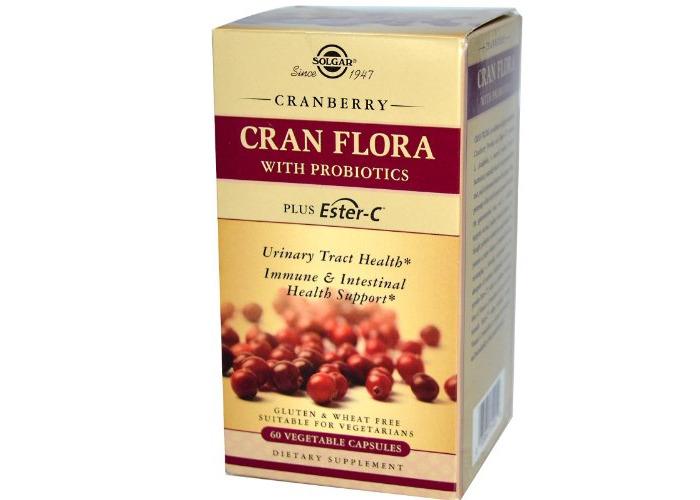 Solgar - Cran Flora with Probiotics plus Ester C - 60 Vegetarian Capsules - 1