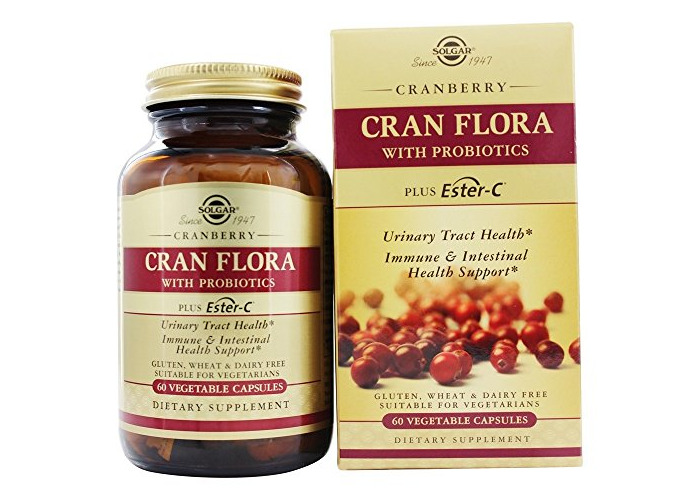 Solgar - Cran Flora with Probiotics plus Ester C - 60 Vegetarian Capsules - 2