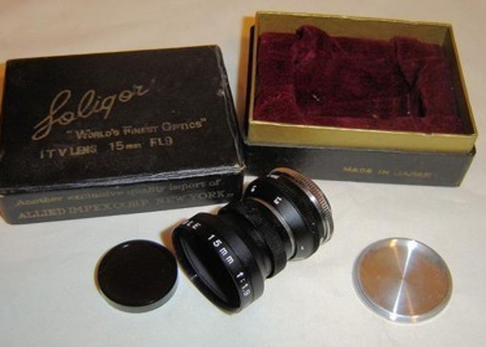 Soligor 15mm 1:1.9 c-mount - 1