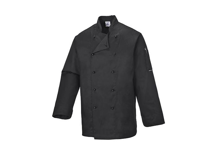 Somerset Chef Jacket  Black  Large  R - 1