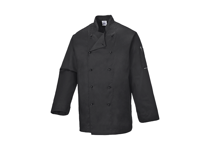 Somerset Chef Jacket  Black  Medium  R - 1