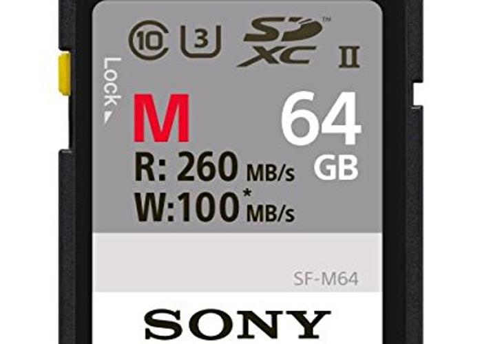 Sony 64GB SDXC Secure Digital Flash Memory Card - 1