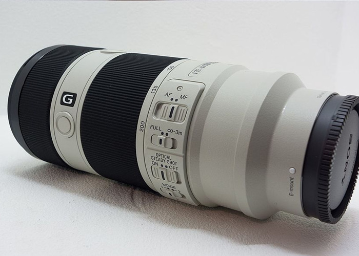 Sony 70 200 mm F4 G E FE mount Lens Professional like 2.8 gm - 2