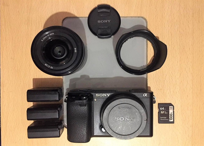 Rent Sony a6300 4k Mirrorless + Sony 28mm f2 AF combo in London