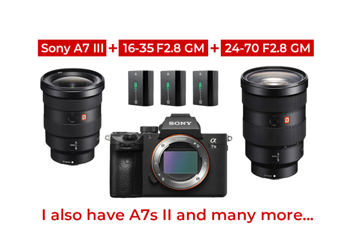 Sony A7 III + 16-35 f2.8 + 24-70 f2.8 + 3 Batteries - 1