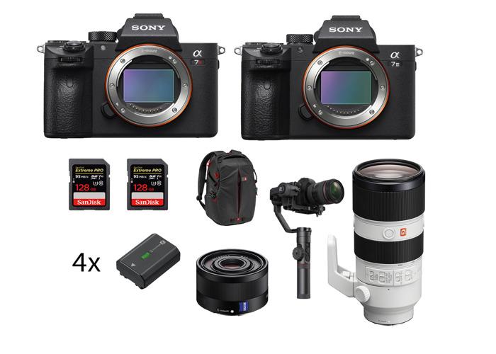 Sony Alpha a7III 3 a7RIII + 35mm + 70-200 f2.8 GM + Crane 2 stabiliser gimbal (Indie Fimmaker Kit) - 1
