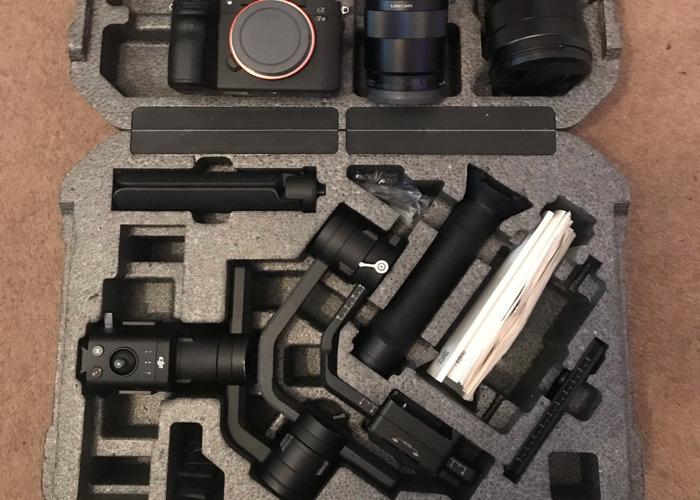 Sony a7 iii + DJI Ronin S kit-Zeiss 55mm F1.8+Zeiss 55mm F4 - 1