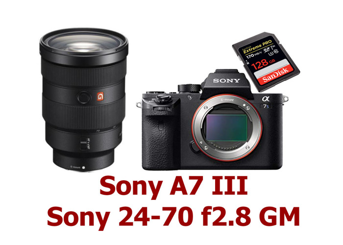 Sony A7 III + Sony 24-70 f2.8 GM + 128GB SD Card - 1
