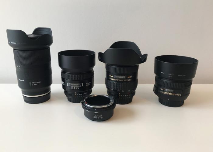 Sony A7 III + Tamron 28-75 + Nikon 50mm, 85mm, 18-35mm lens - 2