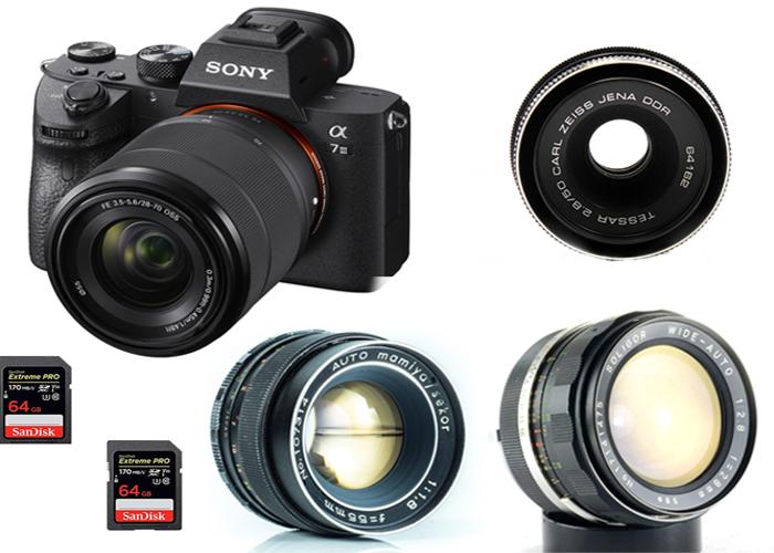 Sony A7 III 4k KIT + 3 Vintage Lens - 1