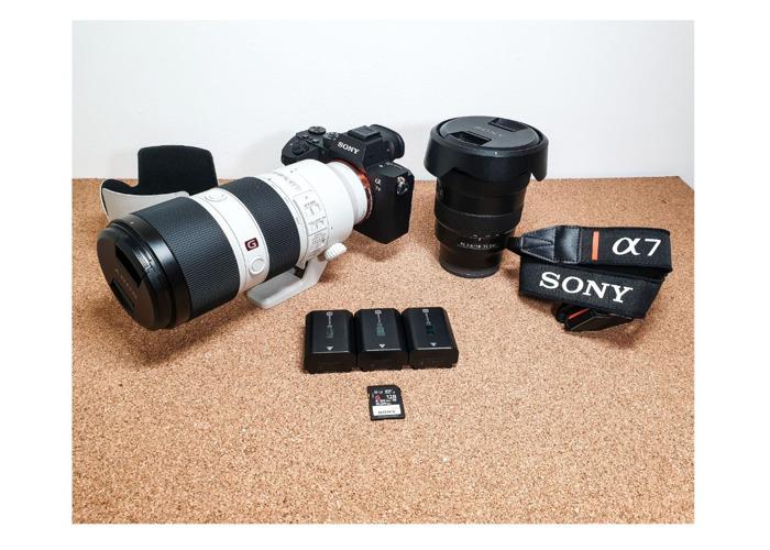 Sony A73 III + 16-35, 70-200 mm F2.8 GM Lens set Sony A7III - 1