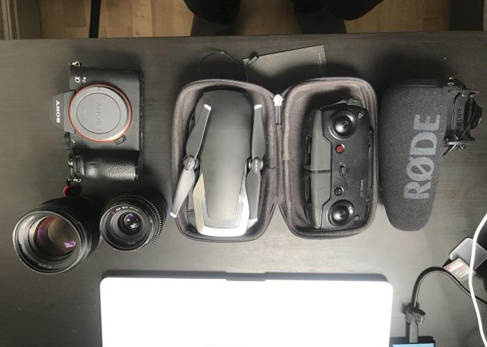 Sony A7II +35mm +85mm +RodeMic +Mavic air - 1