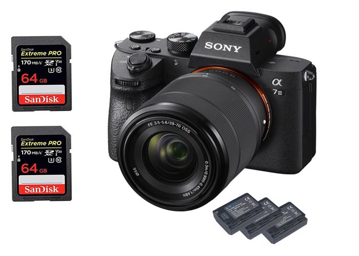 Sony A7III - 4K + 28-70mm + two 64GB card - 1