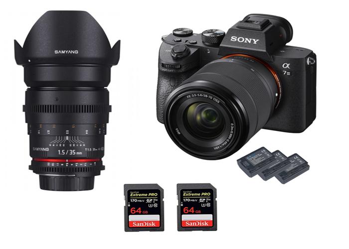 Sony A7III - 4K + 35mm Cine t1.5 + 28-70mm 3.5 KIT - 1