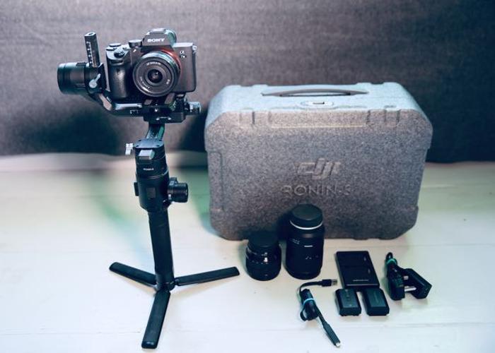 Sony A7iii A73 + DJI Ronin S Gimbal Stabiliser / with lenses - 1