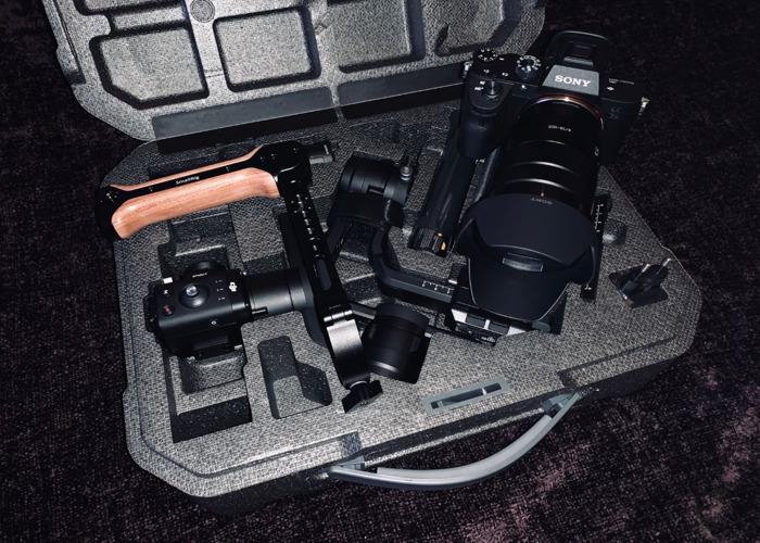 Sony A7iii (A73) + DJI Ronin S Kit w/Focus Wheel + SmallRig Wooden Handgrip - 1