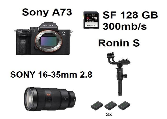 Sony A7III A73 Dji Ronins S 16-35mm 2.8 G Lens 16-35 mm - 1